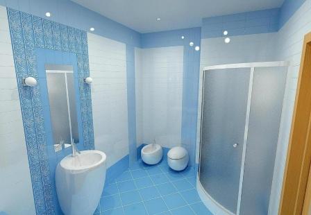 3d визуализация интерьера ванной комнаты
