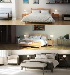 3D модели кроватей и интерьера