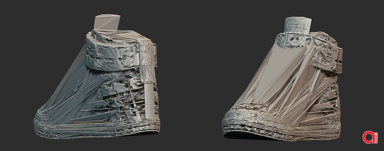 3D модель кроссовок будущего