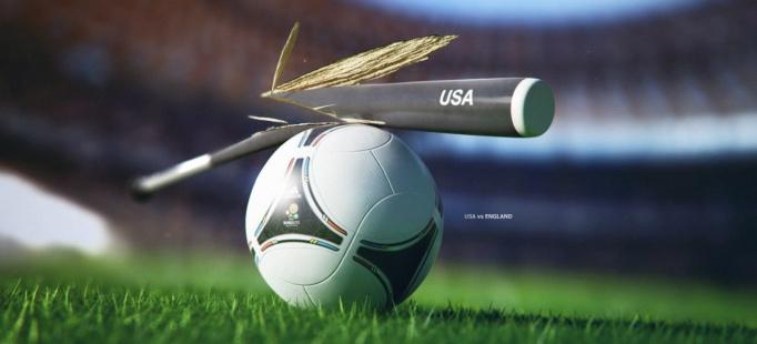 3D визуализация мяч+бита